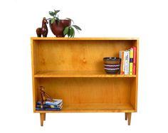 Mid Century Modern Bookcase Pine Wood Shelf Retro Bookshelf Wooden Shelves Display Case Office Furniture Mid Century Modern Furniture