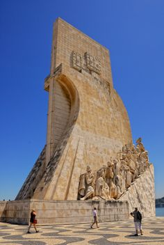 Padrão dos Descobrimentos (Monument to the Discoveries of the XV/XVI century), S Belém, in the riverside, Lisbon, Portugal by Andy Hayter Places Around The World, The Places Youll Go, Travel Around The World, Places To See, Around The Worlds, Portugal Travel, Spain And Portugal, Portuguese Culture, Belle Photo