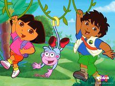 Dora i Diego znowu w dżungli skaczą po drzewach http://gieremki.pl/gry-dora/