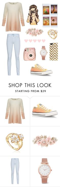 """"" by xheba626x on Polyvore featuring Joie, Converse, Fuji, Accessorize, 7 For All Mankind and Larsson & Jennings"