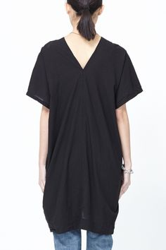 UZI Oversized V-Neck Dress (Black )SS14 Available now at Totokaelo.com!