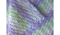 Baby blanket lilac/mint/white