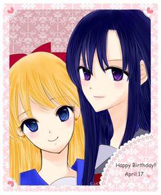 レイちゃん描いてたら美奈子ちゃんも描きたくなる不思議! レイちゃんお誕生日おめでとう!誕生日要素皆無だけど言っちゃう。