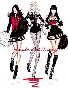 Madonna ft. M.I.A. & Nicki Minaj fashion illustration by Hayden Williams