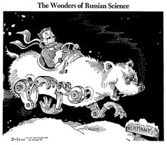 The Wonders of Russian Science, published by PM Magazine on January 16, 1942, Dr. Seuss Collection, MSS 230. Mandeville Special Collections Library, UC San Diego.