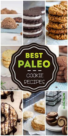 Paleo cookie recipes are becoming more popular as the number of people who are unable or unwilling to eat overly-processed store bought sweets continues to rise Low Carb Sweets, Paleo Sweets, Paleo Dessert, Low Carb Desserts, Vegan Desserts, Just Desserts, Dessert Recipes, Diabetic Sweets, Healthier Desserts