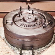Groom's Cake Barbells