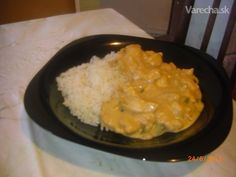 Kuracie stroganov Czech Recipes, Stew, Grains, Food And Drink, Rice, Chicken, Czech Food, Stroganoff Recipe, Meat