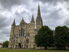 A gloomy and overcast day shaddows Salisbury Cathedral. #landscape #britain #salisbury #wiltshire #architecture #cathedral Salisbury Wiltshire, Salisbury Cathedral, British Architecture, Barcelona Cathedral, Britain, Landscape, Building, Travel, Scenery