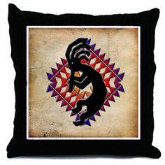#Cricut - Southwest Kokopelli throw pillow.