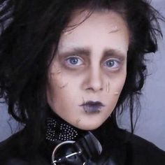 While it might not be the most terrifying Halloween makeup, this DIY Edward Scissorhands look is definitely creepy.