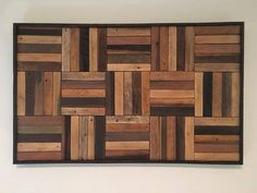 Rustic Wood Panels reclaimed wood wall art made of lath wood from Kentucky Dimensions : 29 W x 18 H x 1 D Each piece is unique and wood color / stain may vary slightly. Allow 3 weeks for all made to order items. Reclaimed Wood Wall Art, Wooden Wall Decor, Wooden Walls, Rustic Wood, Wood Art, Wood Block Crafts, Wooden Pallet Projects, Wood Blocks, Wood Crafts