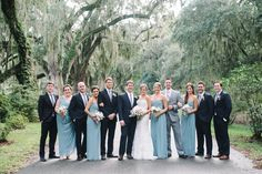 Dusty Blue and Navy Wedding Party Look