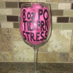 Funny wine glass for a medical professional by CksCreationsBotique, $10.00