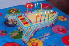 Kindergeburtstag-Raketenkuchen