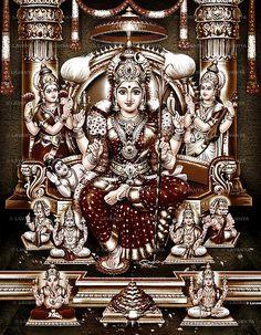 Amman is the main South Indian mother goddess for bringing rains and curing several bodily ailments. Here are the best Amman photos, images, & HD wallpapers Saraswati Goddess, Shiva Shakti, Goddess Lakshmi, Shiva Hindu, Durga Maa, Durga Images, Lakshmi Images, Shri Yantra, Lord Ganesha Paintings