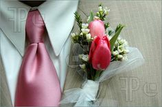 Photo about Boutonniere and pink tie of groom during wedding ceremony. Image of cravats, love, flowers - 2196944 Tulip Wedding, Elegant Wedding Dress, Wedding Flowers, Fresco, Wedding Ceremony, Wedding Day, Formal Wedding, Wedding Photos, Wedding Flower Packages