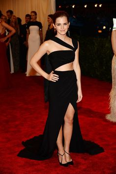 How gorgeous is Emma Watson in her cut-out Prabal Gurung gown at the Met Gala?