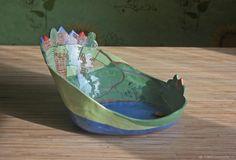 """Купить Тарелка """"Деревенский этюд"""" - Керамика, кухня, гостиная, конфетница, синий, тарелка, фруктовница, хлебница"""