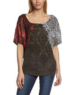 In Offerta! Desigual - Nika Maglietta, colletto tondo, manica corta, donna, Grigio (Grau (Gris Tormenta)), S disponibile su Kellie Shop. Scarpe, borse, accessori, intimo, gioielli e molto altro.. scopri migliaia di articoli firmati con prezzi da 15,00 a 299,00 euro! #kellieshop #borse #scarpe #saldi #abbigliamento #donna #regali