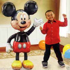 "Mickey Mouse 52"" Jumbo AirWalker Foil Balloon Birthday Decoration Party Supplies…"