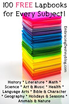 100 free lapbooks for every subject | #Homeschooling
