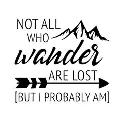 Not All That Wonder Are Lost Decal   Etsy