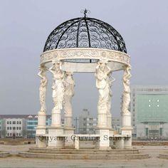 white marble outdoor gazebo ...
