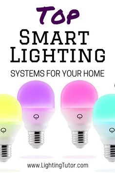 Control your lighting with a smartphone using bluetooth, mobile, etc. You can even control plugs and switches while still using regular LED bulbs. Kitchen Lighting Design, Kitchen Lighting Fixtures, Light Fixtures, Smart Lighting System, Leaking Faucet, Basement Lighting, Green Technology, Make A Change, First Time Home Buyers