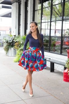 The Most Stylish Ankara Skirt Styles in Vogue African Print Skirt, African Print Dresses, African Fabric, African Dress, African Prints, Fashion Mode, Look Fashion, Skirt Fashion, Fashion Outfits