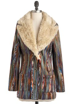 Totally thought of the flick Almost Famous, and then I read the name of this gem: It's All Happening Coat, #ModCloth