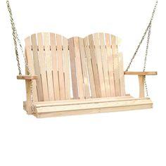 Cedar Adirondack Chair Style Porch Swing