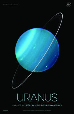 A selection of awe-inspiring NASA Uranus posters, printed on premium satin paper. Space Solar System, Our Solar System, Solar System Poster, Space Planets, Space And Astronomy, Nasa Space, The Planets, Cosmos, Sistema Solar