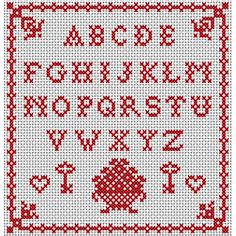 ABC Sampler -- free pattern {other free patterns on site}