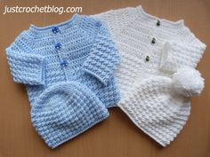 """Crochet baby glitz coat-hat a free crochet pattern for a 16"""" chest 0-3 month baby, made in a worsted weight #3 yarn on 4.00mm and 4.50mm crochet hooks................"""