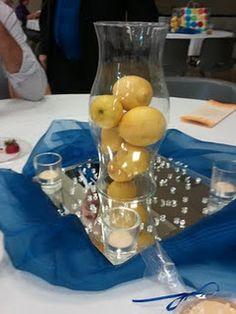 Lemon center piece at my friend's wedding