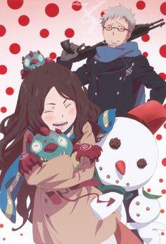 ao no exorcist-blue exorcist Rin and Yukio's mother Manga Anime, Got Anime, Fanart Manga, Anime Art, An No Exorcist, Blue Exorcist Anime, Rin Okumura, Jojo's Bizarre Adventure, Sailor Moon