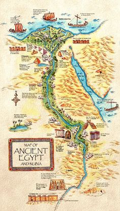 Ancient Egypt maps for the map assignment - Mr. Brunken's Online Classroom - Ancient Egypt maps for the map assignment – Mr. Brunken's Online Classroom - Egypt Map, Old Egypt, Luxor Egypt, Empire Romain, Pyramids Of Giza, Mystery Of History, Old Maps, Ancient Civilizations, Egyptians