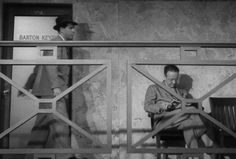 Watching Double Indemnity? Did you spot Raymond Chandler's uncredited cameo as 'Man Reading Book'? #cameospotting