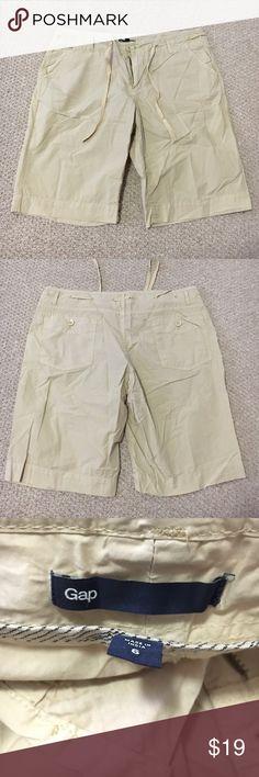 Gap Bermuda Shorts ✔️GAP Khaki Bermuda Length Shorts ✔️Button and zip closure at waist with Drawstring ✔️Front side pockets, button back pockets.  ✔️Like NEW condition! ✔️Vintage GAP! GAP Shorts Bermudas