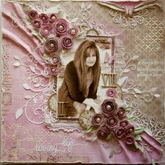 Scrapbook page made by Maja Design Team member Gabrielle Pollacco using Maja Design papers (Sofiero collection)