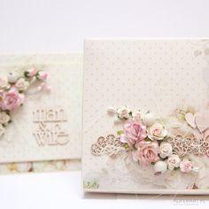 Romantyczna Kartka na ślub z pudełkiem - Kartki Ślubne - Papier