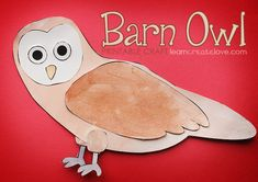 { Printable Barn Owl Craft } FREE
