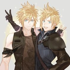 Cloud strife and prompto Final Fantasy Xv, Final Fantasy Artwork, Final Fantasy Characters, Fantasy Series, Prompto Argentum, Noctis, Cloud Strife, The Sims, Kingdom Hearts