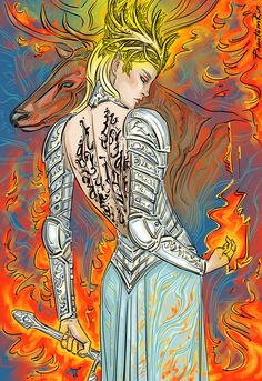"Fireheart (""Throne of Glass"" by @sjmaas) Amazing, amazing Throne of Glass art by Phantom Rin. Wish I had even a smidge of artistic talent"