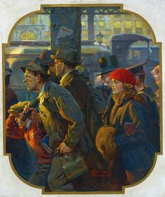 Norman Rockwell (1894-1978) - End of a working day, 1920