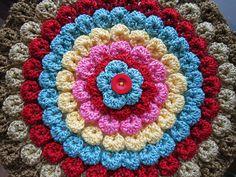 crocodile stitch in a circle