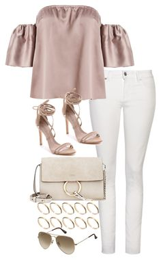 A fashion look from July 2016 featuring off the shoulder crop top, white skinny jeans and suede shoes. Browse and shop related looks. Kpop Fashion Outfits, Girls Fashion Clothes, Clothes For Women, Cute Casual Outfits, Stylish Outfits, Elegantes Business Outfit, Mode Ootd, Look Girl, Looks Chic