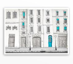 The magic door 5x7 Paris illustration Paris art by tubidu, $20.00
