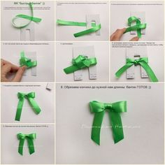 DIY Perfect Ribbon Bow Tie with Cardboard